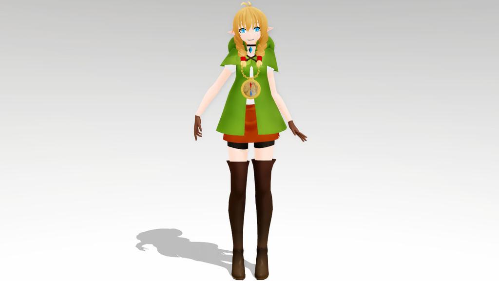 MMD TDA The Legend Of Zelda Linkle model by Kira-goddess