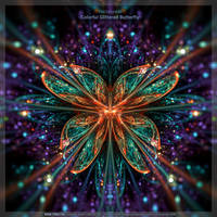 Colorful Glittered Butterfly by fractalyzerall