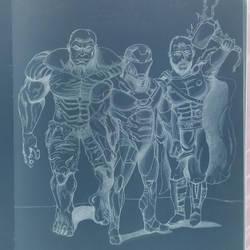 Hulk, Iron Man, Thor by MoonmansArtworks