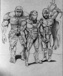 Hulk, Iron Man, Thor 1 by MoonmansArtworks
