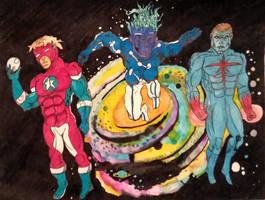 Commander Steele, Captain Universe, Captain Atom