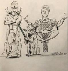 Martian Manhunter, Yoda, Ozymandias by MoonmansArtworks
