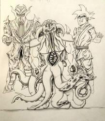Miraak, Cthulhu, Black Goku by MoonmansArtworks