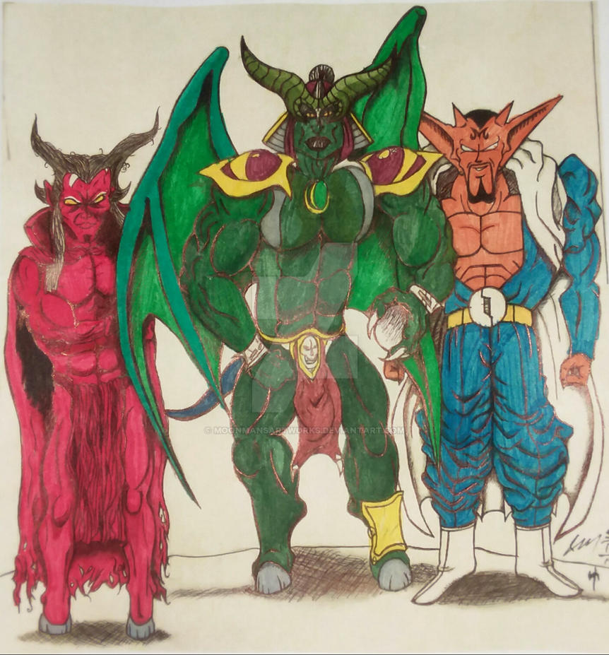 Mephisto (M), Onaga (MK), Debura  (DBZ) by MoonmansArtworks