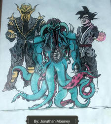 Miraak, Cthulhu, Black Goku (Colored Version)