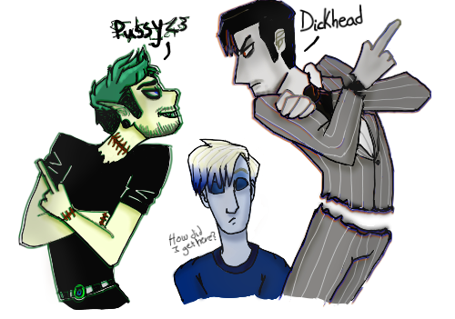 Draw the dark youtuber squad by Electra-Fab-Cap