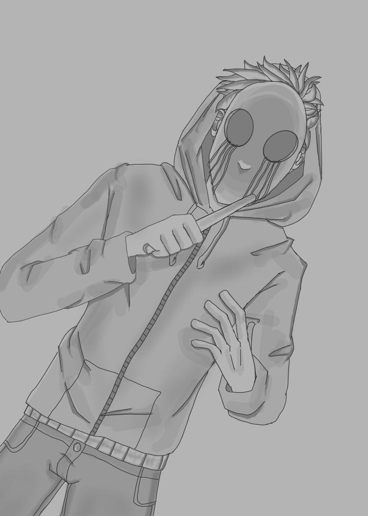 Eyeless Jack Sketch by Electra-Fab-Cap