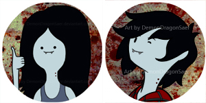 Marceline and Marshall Lee Approved by DemonDragonSaer