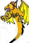 Golden Blaze Dragon Shadow by SonicAsura