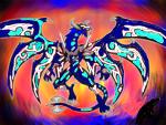 Drake Akamishi Dragon Form by SonicAsura