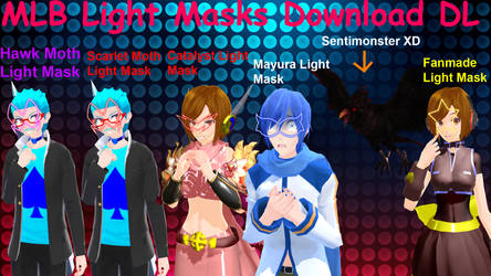 MMD Miraculous Ladybug Light Mask Download by AlejandroFreddy