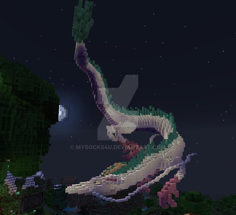 Haku In Dragon Form By Mysocks4u