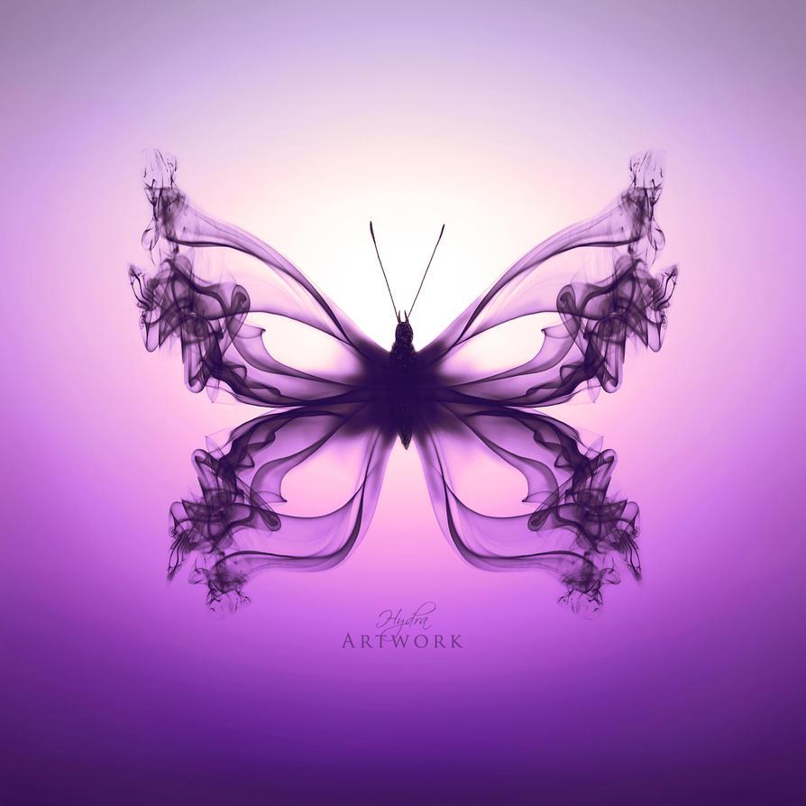 Butterfly I - Purple gradient