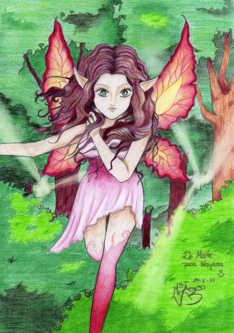 Drawing of a Pixie ^^ by sirenacora