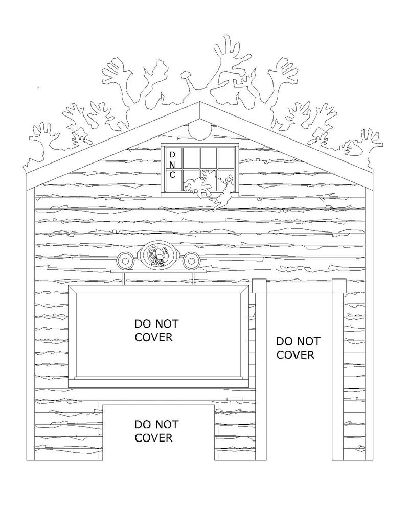 EVIL DEAD CENTER WALL CAD DWG by LocationCreator