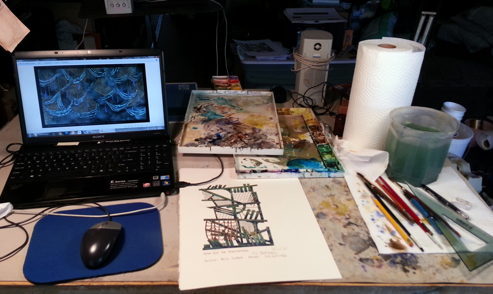 Workspace in my studio by LocationCreator