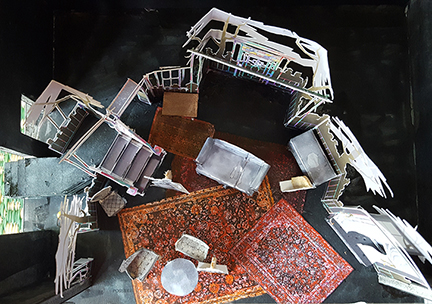 Arsenic and Old Lace Stage Maquette by LocationCreator