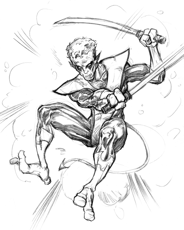 Nightcrawler Fan Sketch by Comicbookist