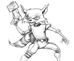 Rocket Raccoon by Comicbookist