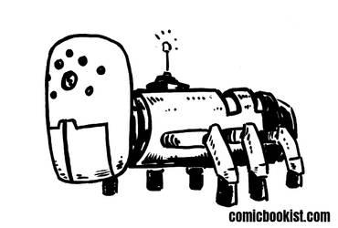 Inktober Day Twenty Five - BugBot by Comicbookist