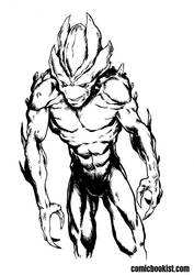 Inktober Day Twenty Seven - Evil Alien by Comicbookist