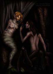 RiyoArt's Mermaid and Drider by perpetualdamsel