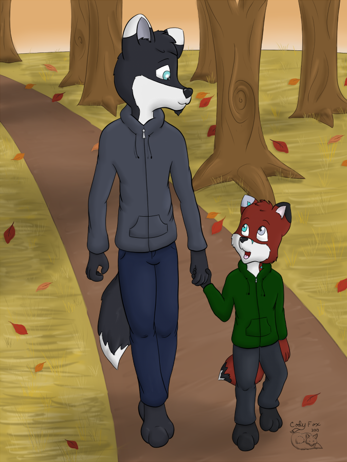Autumn Walk by CodyTehFox