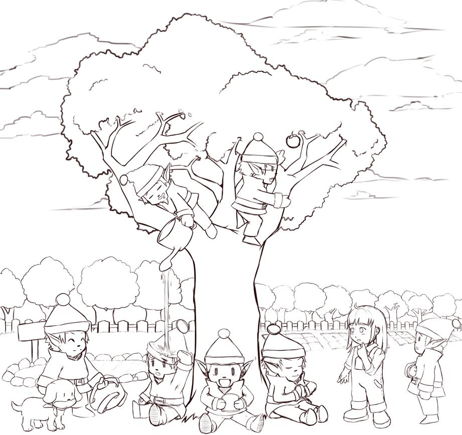 Harvest Sprites (Sketch) by TakeichiSudo