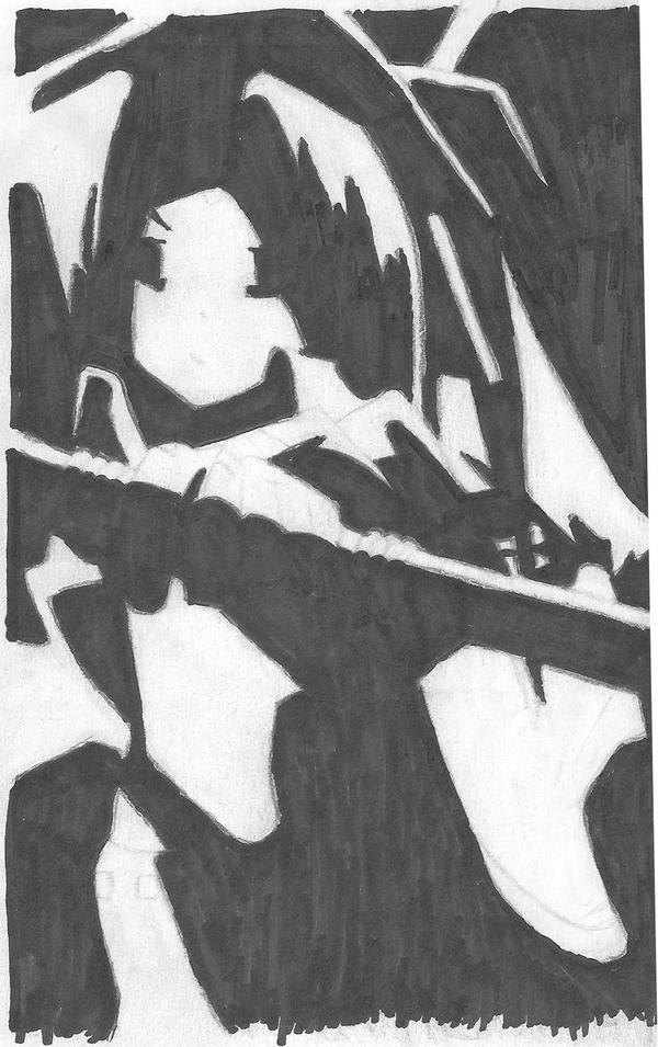 Yoh Asakura Silhouette by ariolander