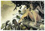 Cavewoman vs Zombies