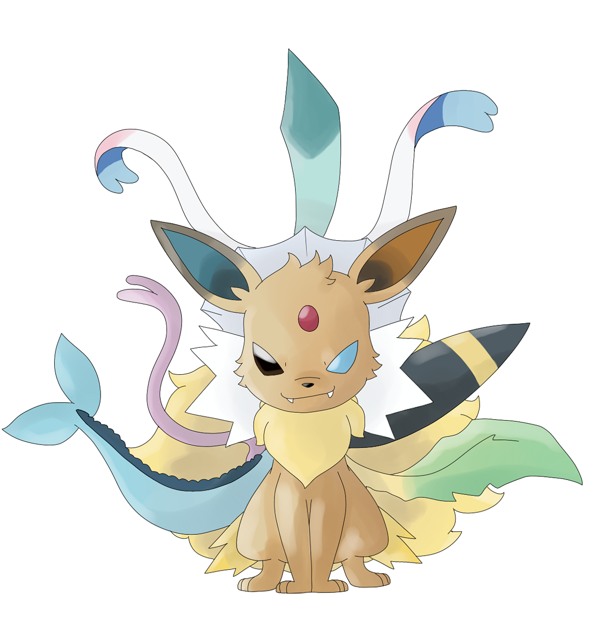 mega eevee by itsaaudra on deviantart