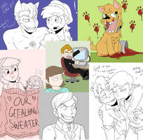 SlappyxAmy Doodle Compilation by itsaaudraw