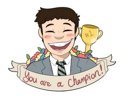Motivational Champ by itsaaudraw