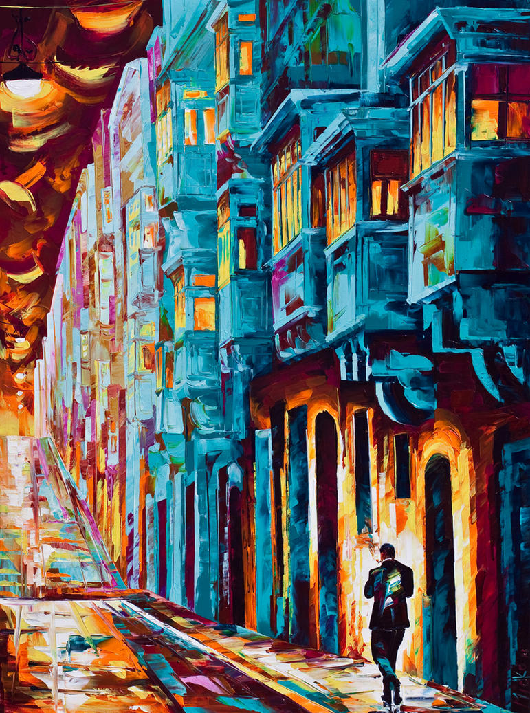 Valletta twilight 11 by micko vic on deviantart for Mural examples