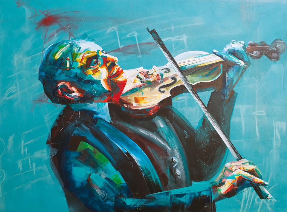 fiddler 130 X 100 cm  by Micko-vic