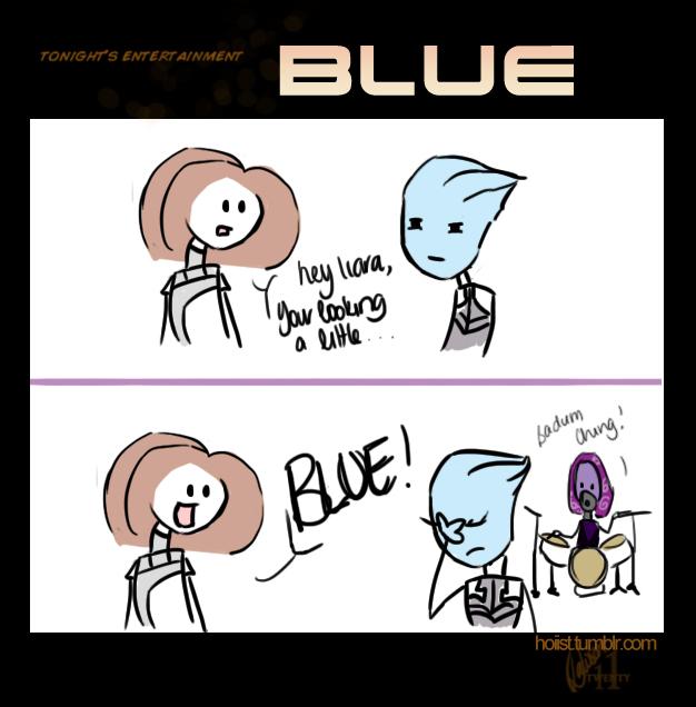 Guest Comic: Blue by sillyshepard
