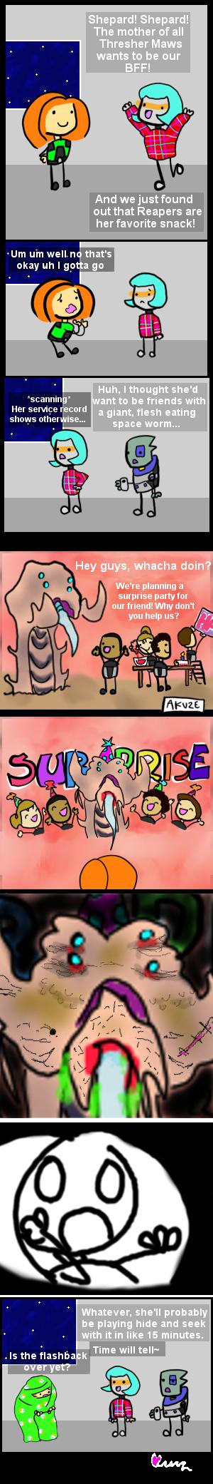 SURPRISE! FLASHBACK! by sillyshepard