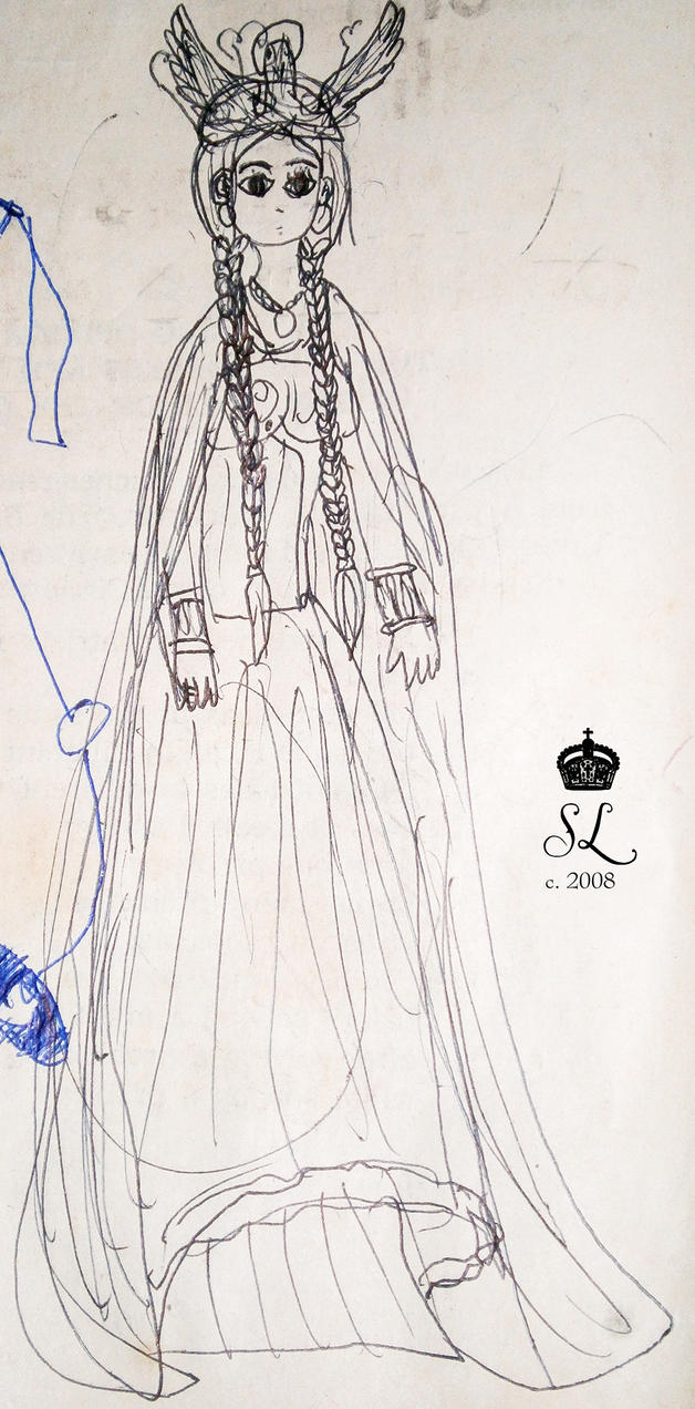 Viking princess [old drawing] by GracefulTatiana1897