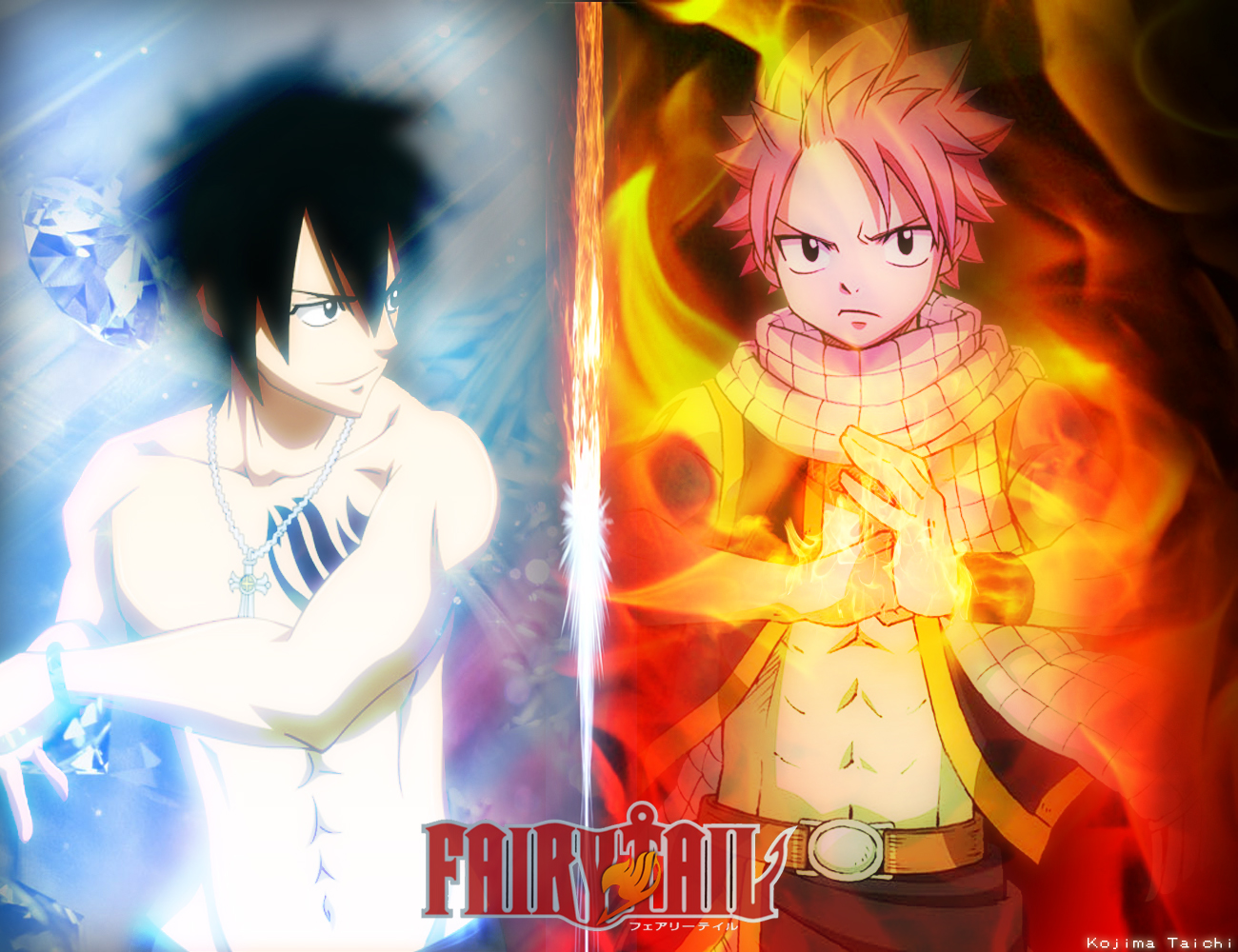 Natsu Dragneel Vs Grey Fullbuster By Kojimataichi On