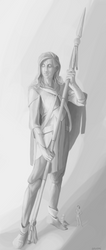 Statue of a warrior by anvemi