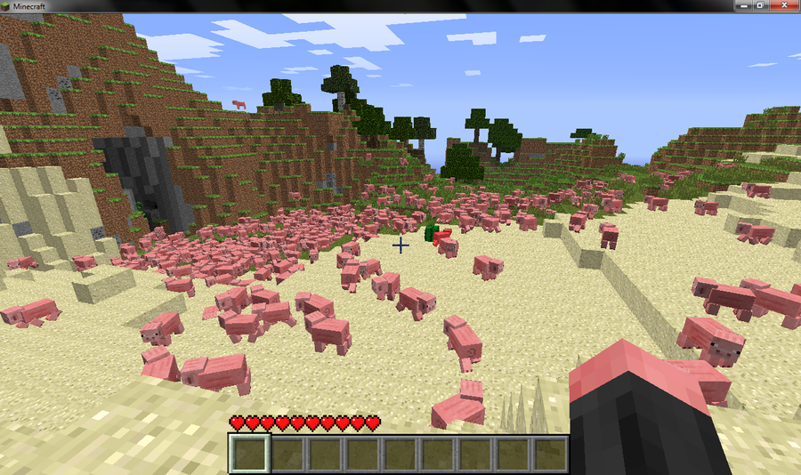 Minecraft Pig Apocalypse by JellyKitteh