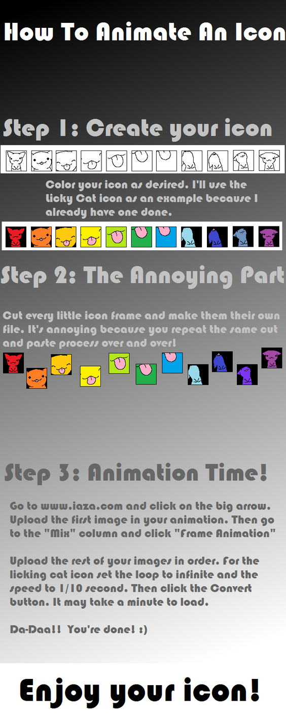How To Animate An Icon by JellyKitteh