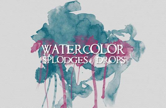 WG Watercolor Splodges