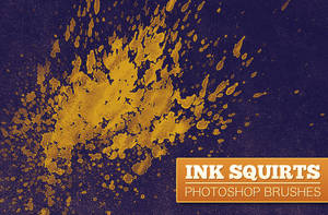 WG Ink Squirts PS Brushes by wegraphics