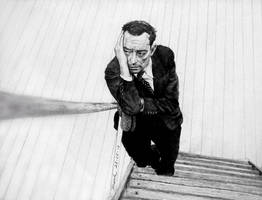 Buster Keaton Pencil Drawing by FrankGo