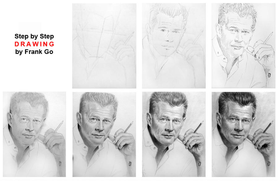 Step by Step Drawing by FrankGo