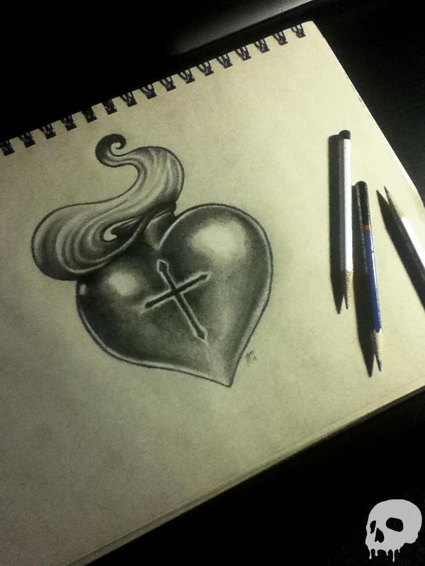 sacred heart tattoo design by p o r k y on deviantart. Black Bedroom Furniture Sets. Home Design Ideas