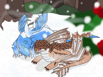 Commission - Icevein and Winterwind by BeckyL97