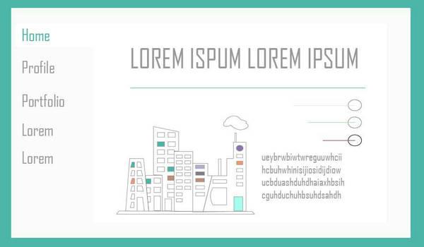 A simple portfolio design - home