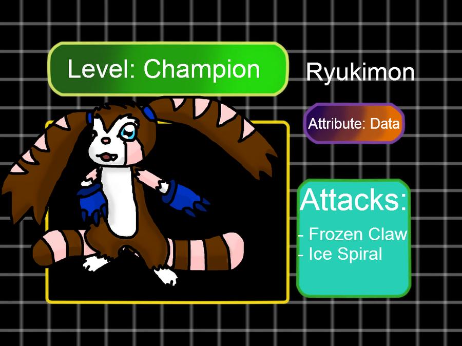 Digidex meme: Ryukimon by tinttiyo